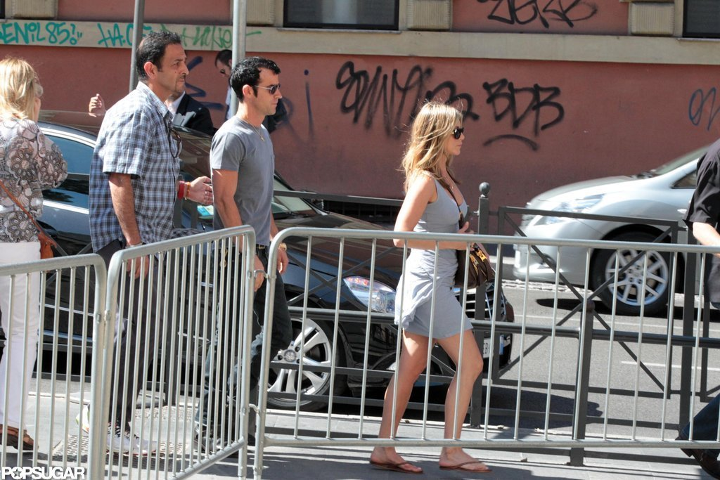 Jennifer Aniston and Justin Theroux explored Rome.