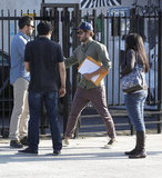 Zac Efron hung out with friends after a meeting in LA.