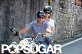 George Clooney took Stacy Keibler for a motorcycle ride around Lake Como, Italy, in June 2012.