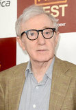 Woody Allen arrived at the LA premiere of To Rome With Love.