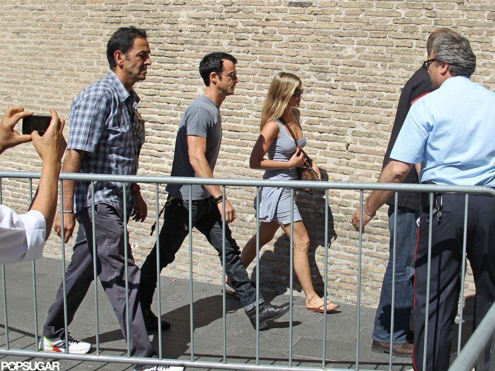 Jennifer Aniston and Justin Theroux Take Their Eurotrip to Rome!