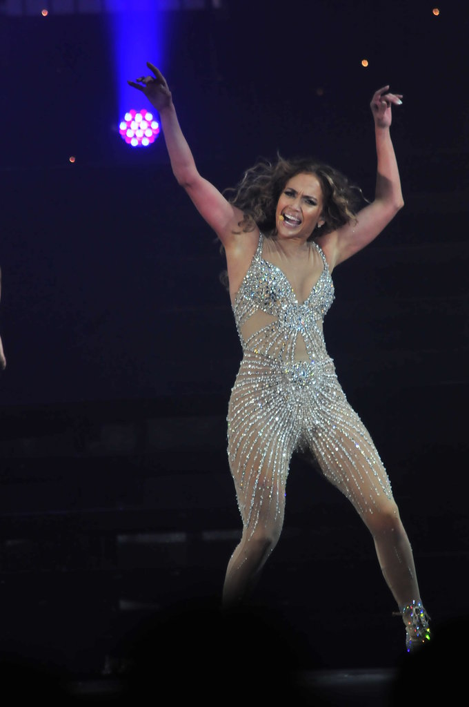 J Lo on stage during her tour.
