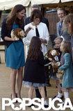Kate Middleton met with children at Kensington Gardens.