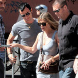 Jennifer Aniston And Justin Theroux Hit Rome!