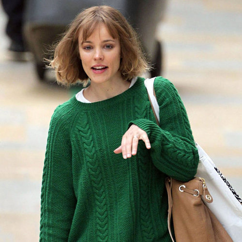 Rachel McAdams Wearing Green Sweater Pictures