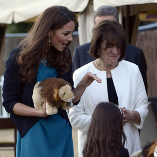 Kate Middleton Blue Zara Dress Kensington Garden Pictures