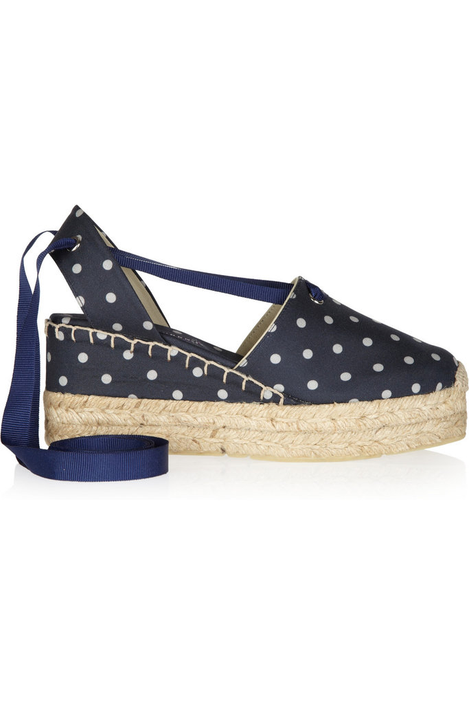 How cute are these retro polka-dotted espadrilles? Wear them with a pair of crisp white shorts to make the print stand out. Ralph Lauren Collection Uma Polka-Dot Canvas and Rope Espadrille ($89, originally $295)