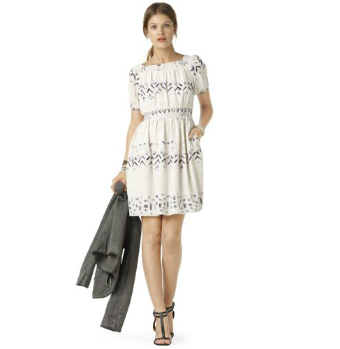 A perfect Summer dress complete with a soft print, figure-flattering silhouette, and the versatility to carry over into the next season with the right amount of layering. Club Monaco Alexis Silk Dress ($139, originally $199)