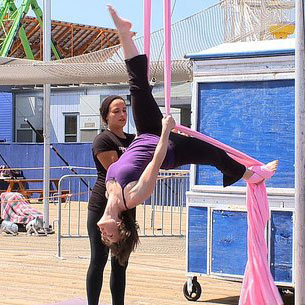 What to Expect From an Aerial Arts Silks Circus Arts Class