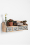 Keep dad organized with this Reclaimed Wood Card Catalogue Shelf ($64).