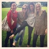 Leopard lovers! From left, Pop ed Jess, Ali, Marisa and Alison all turned up to the office sporting some animal print.