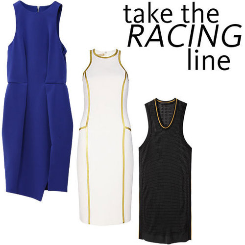 Top Five Racer Neckline Dresses To Shop Online Now: Alexander Wang, Michael Kors, ASOS, Ksubi + more!