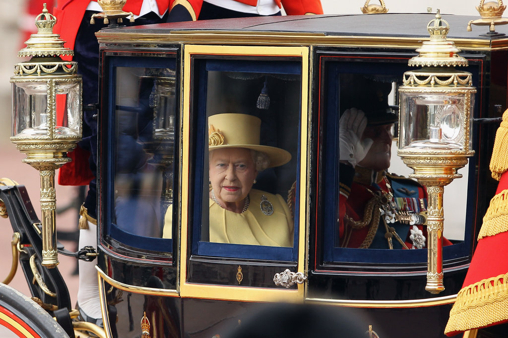 Queen Elizabeth rode into the Trooping the Colour ceremony in London.