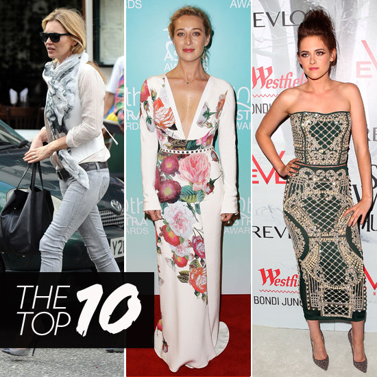 Top 10, Best Dressed Of The Week: Kate Moss, Asher Keddie, Kristen Stewart & More