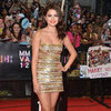 Selena Gomez Gold Dress at 2012 MuchMusic Awards