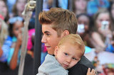 Justin Bieber's little brother, Jaxon, rested his head on Justin's shoulder at the MuchMusic Video Awards in Toronto.