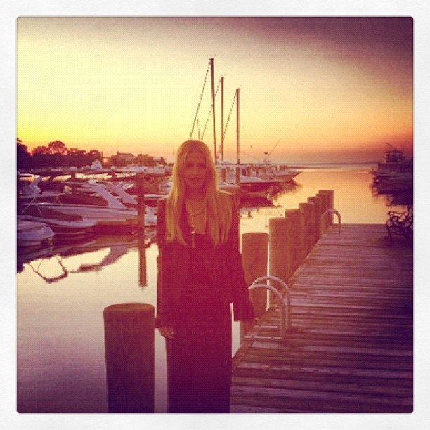 Rachel Zoe made the most of the gorgeous Hamptons sunset. Source: Instagram user rachelzoe