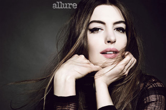 Anne Hathaway sported cat-eye makeup inside the pages of Allure's July issue.