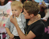 Justin Bieber played with his little brother at the MuchMusic Video Awards in Toronto.