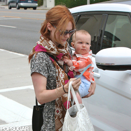 January Jones debuted new red hair.