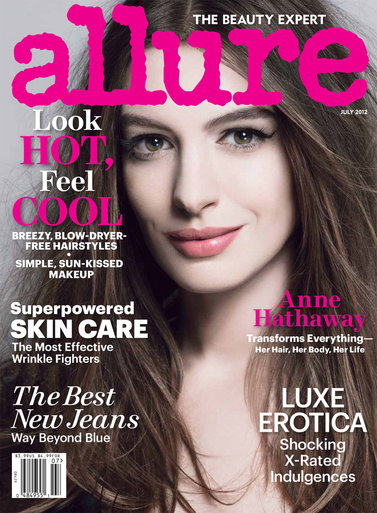 Anne Hathaway covered the July issue of Allure magazine.