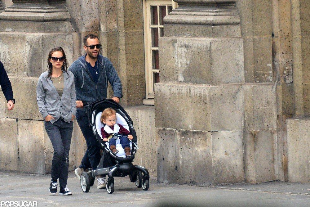 Natalie Portman toured Paris with her family.