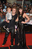Justin Bieber and his little brother, Jaxon, posed with Carly Rae Jepsen on the red carpet of the MuchMusic Video Awards in Toronto.