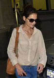 Katie Holmes walked to her car in NYC.