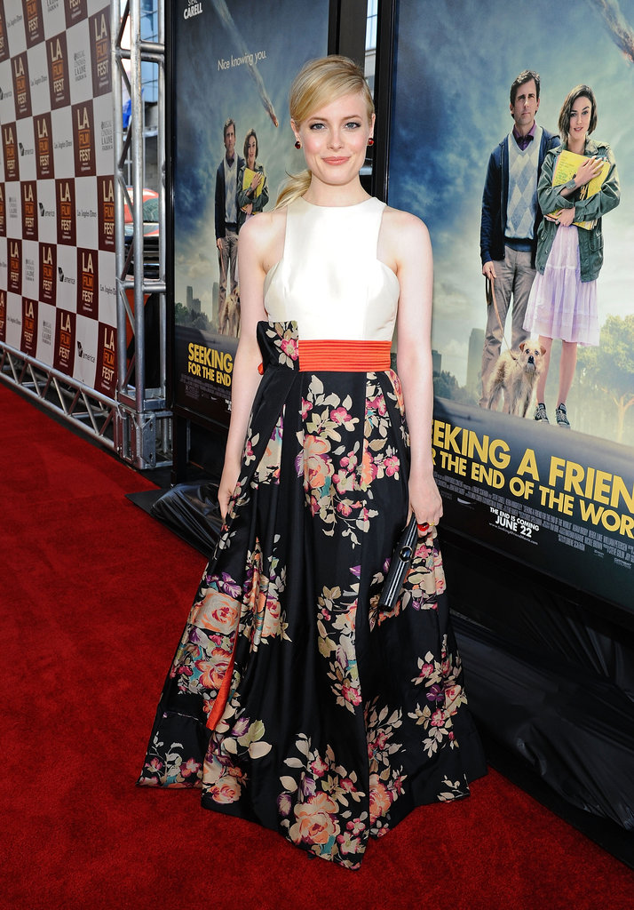 Gillian Jacobs stepped onto the red carpet for the LA premiere of Seeking a Friend For the End of the World.