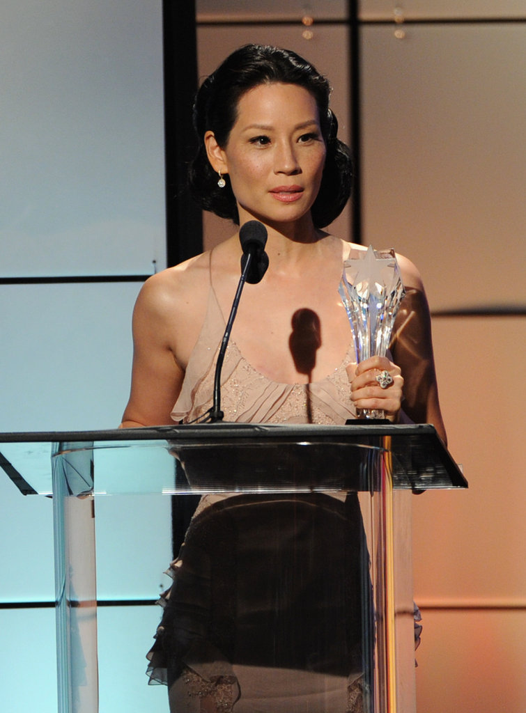 Lucy Liu accepted an award at the Critics' Choice Television Awards in LA.