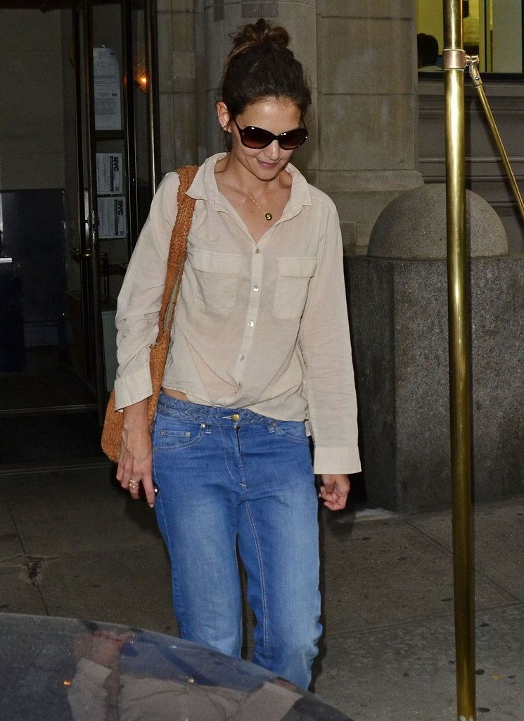 Katie Holmes went out in NYC.