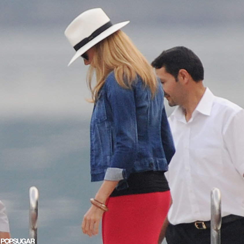Stacy Keibler hung out at Lake Como.