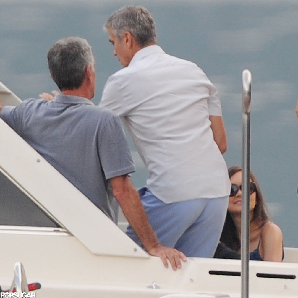 George Clooney was on a boat.