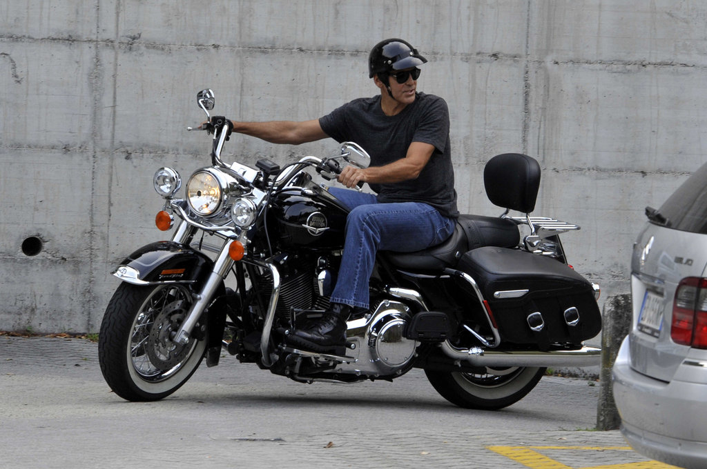 George Clooney took a spin.