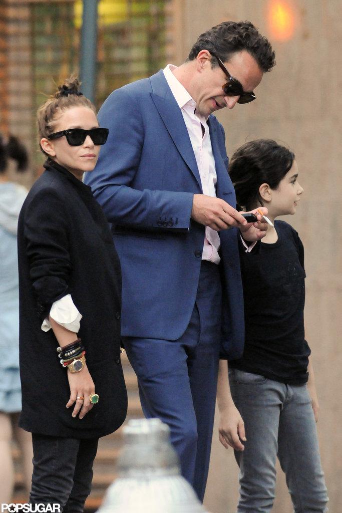 Mary-Kate Olsen pictured with boyfriend Olivier Sarkozy.