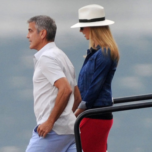 George Clooney Pictures on Boat With Stacy Keibler
