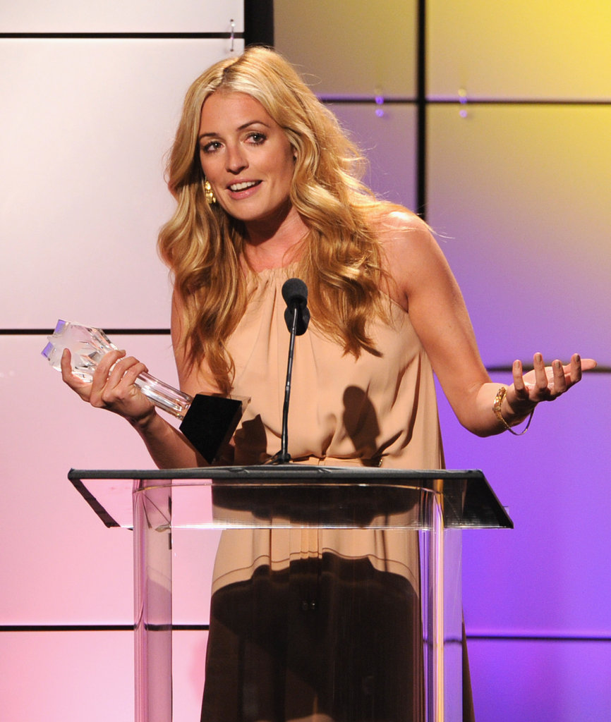 Cat Deeley picked up an award at the Critics' Choice Television Awards in LA.