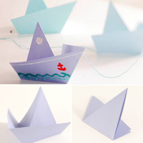 Make an Origami Sailboat