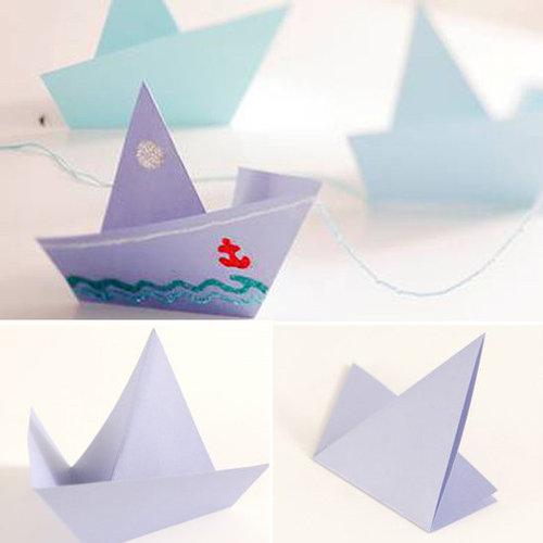 Make an Origami Sailboat