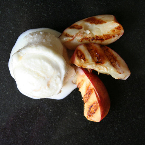 Grilled Nectarines With Frozen Yogurt