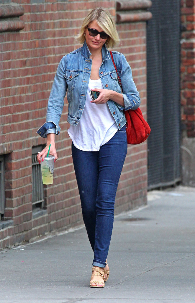 Cameron Diaz went for a walk.