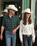 Prince William debuted a rodeo chic look in July 2011 while in Calgary with wife Kate Middleton.
