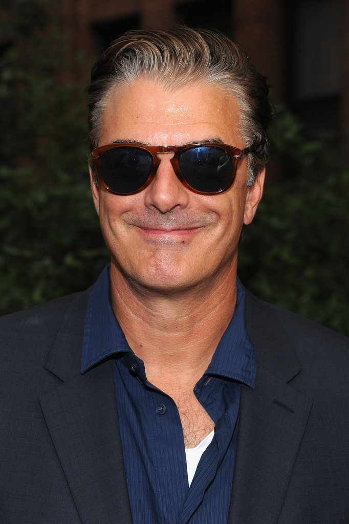 Chris Noth had a smile on his face at Coach's Summer Party on the High Line in NYC.
