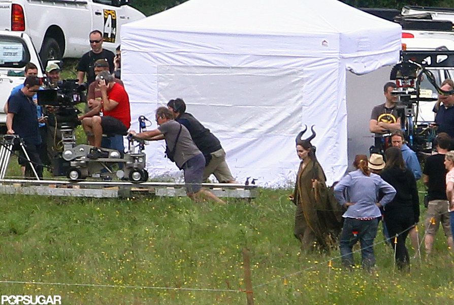 Angelina Jolie shot Maleficent.