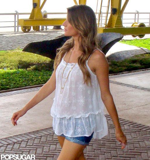 Gisele Bundchen was at a photo shoot in Brazil.