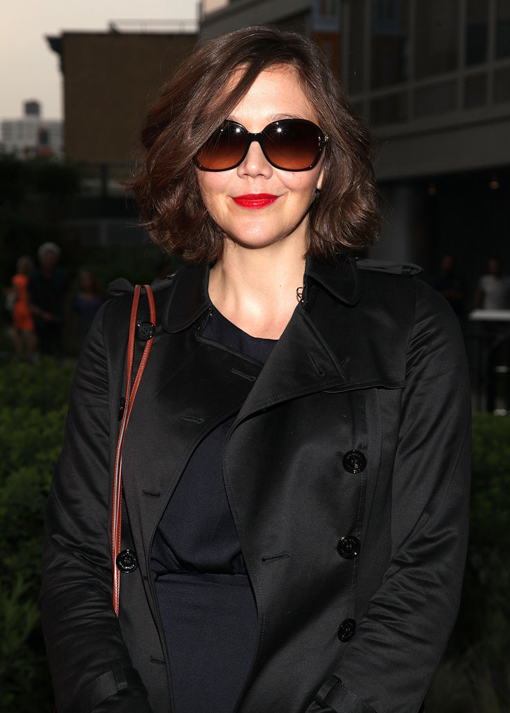 Maggie Gyllenhaal looked chic in shades at Coach's Summer Party on the High Line in NYC.