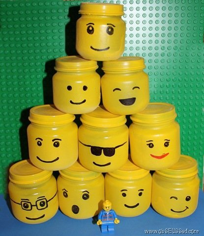 Make Lego Storage Jars