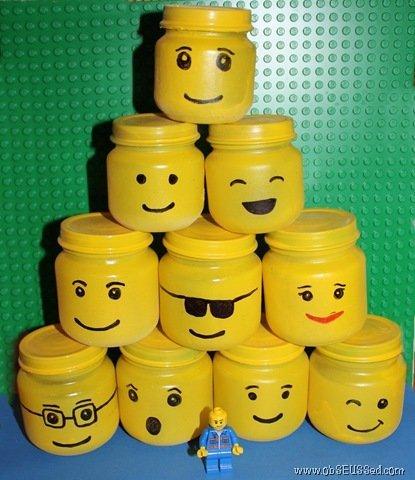 Make Lego Storage Jars