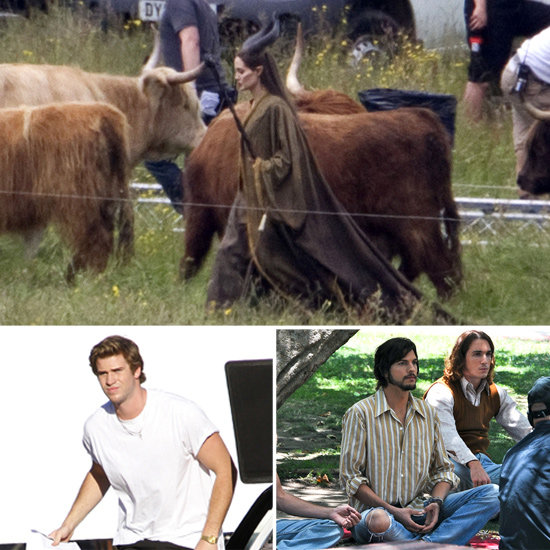 Angelina Jolie, Liam Hemsworth, Ashton Kutcher, and More Stars on Set