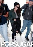 Kristen Stewart caught a plane from the airport in Sydney.